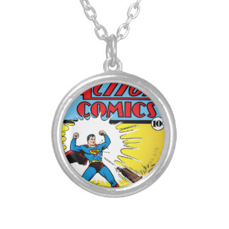 Action Comics #35 Silver Plated Necklace