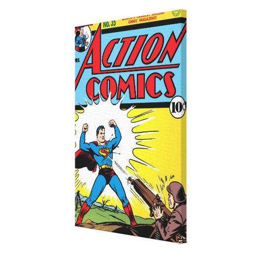 Action Comics #35 Stretched Canvas Prints