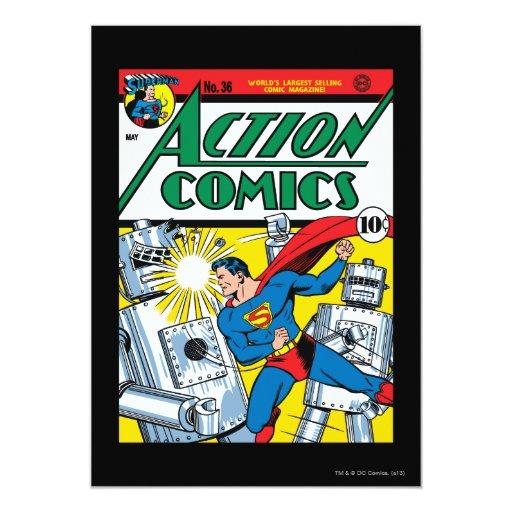 "Action Comics #36 5"" X 7"" Invitation Card"