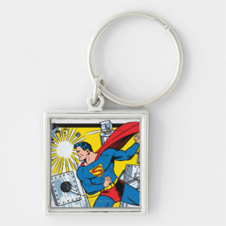 Action Comics #36 Silver-Colored Square Keychain