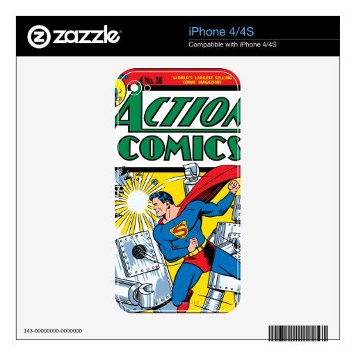 Action Comics #36 Decals For The iPhone 4