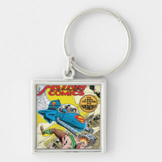 Action Comics #481 Silver-Colored Square Keychain