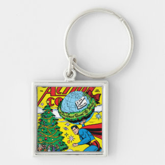 Action Comics #93 Silver-Colored Square Keychain