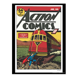 Action Comics - June 1939 Postcard