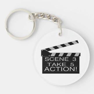 Action Directors Clapboard Keychain