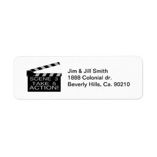 Action Directors Clapboard Custom Return Address Label