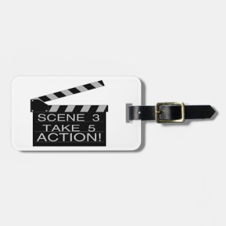 Action Directors Clapboard Luggage Tag