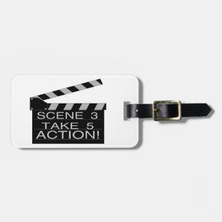 Action Directors Clapboard Travel Bag Tags