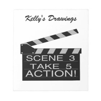 Action Directors Clapboard Notepad