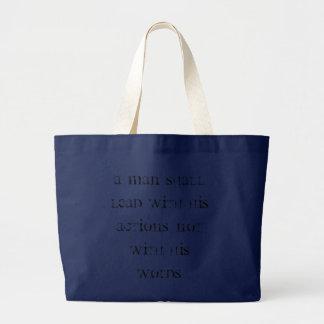 Action DO speak louder than words! Large Tote Bag