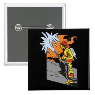 Action Firefighter Pinback Button
