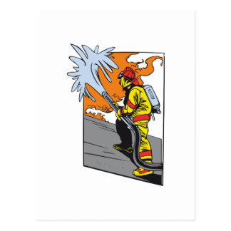 Action Firefighter Postcard