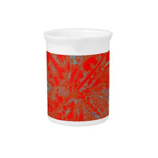 Action flower beverage pitcher