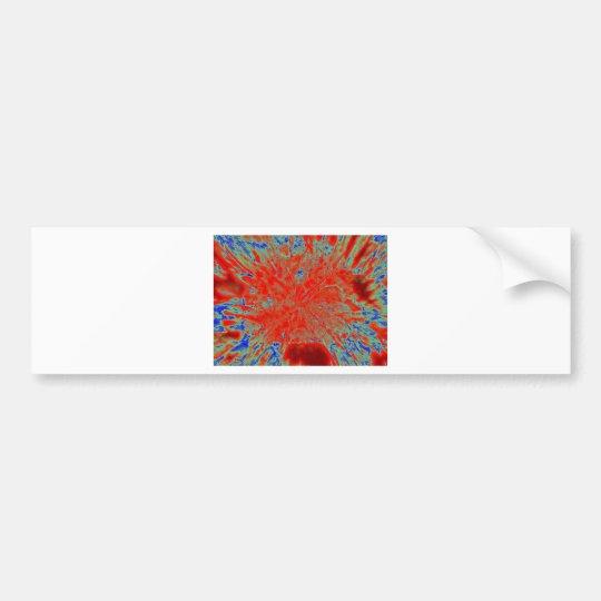 Action flower bumper sticker