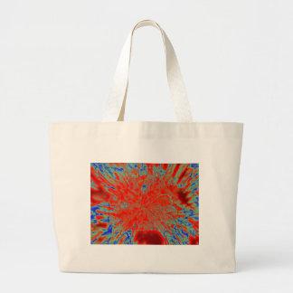 Action flower canvas bag