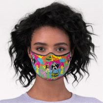 Action Handshake Pattern Premium Face Mask