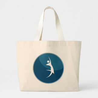 Action Hero Stick Figure Pose Button Icon Large Tote Bag