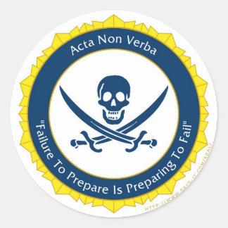 Action Not Words - Latin- Acta Non Verba Classic Round Sticker