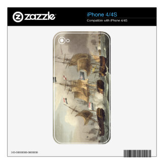Action off Camperdown, October 11th 1797, engraved iPhone 4S Decal