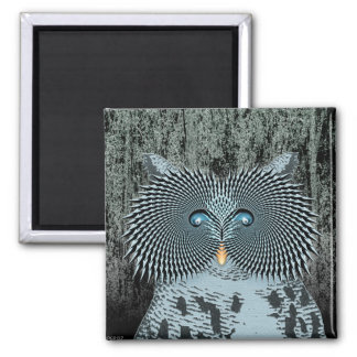 Action Owl 2 Inch Square Magnet