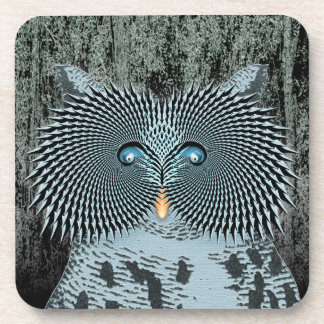 Action Owl Drink Coaster