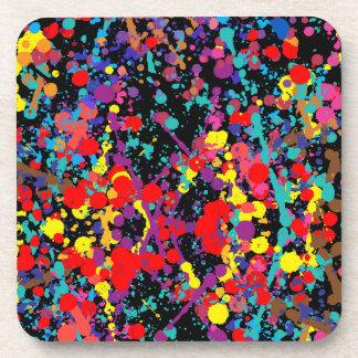 Action Painting Splatter Art Beverage Coaster