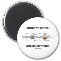 Action Potential Embedded Within (Cell Junctions) 2 Inch Round Magnet