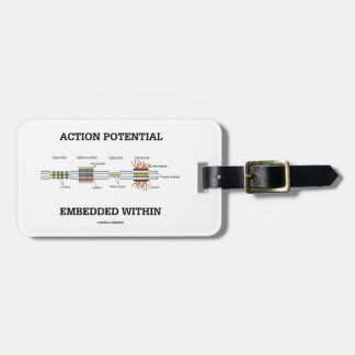 Action Potential Embedded Within (Cell Junctions) Travel Bag Tags