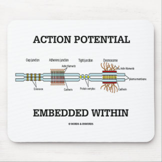 Action Potential Embedded Within Cell Junctions Mousepads