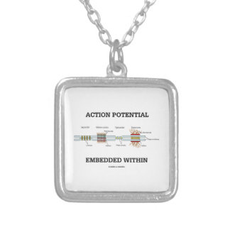 Action Potential Embedded Within (Cell Junctions) Custom Necklace