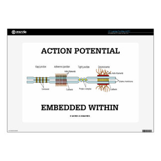 Action Potential Embedded Within (Cell Junctions) Laptop Skin
