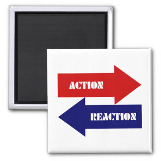 Action-Reaction 2 Inch Square Magnet