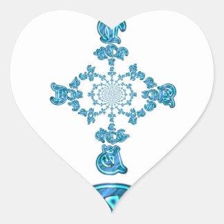 Action Retro Vintage Hakuna Matata Blue Gift.png Heart Sticker