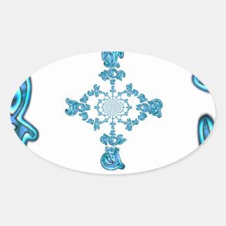 Action Retro Vintage Hakuna Matata Blue Gift.png Oval Sticker