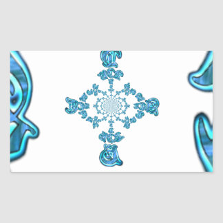 Action Retro Vintage Hakuna Matata Blue Gift.png Rectangular Sticker