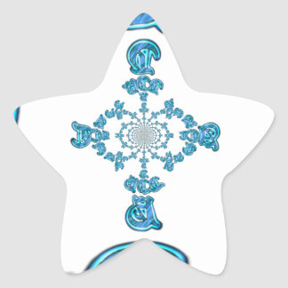 Action Retro Vintage Hakuna Matata Blue Gift.png Star Sticker