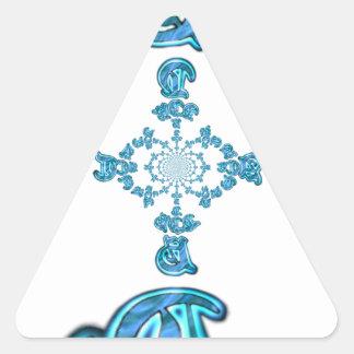Action Retro Vintage Hakuna Matata Blue Gift.png Triangle Sticker