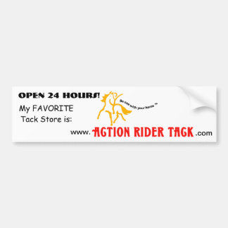 Action Ridert Tack - Be One With Your Horse Bumper Sticker