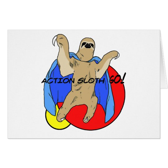 Action Sloth Colored Card