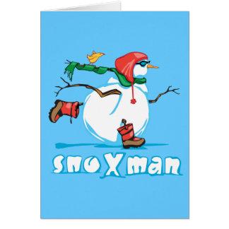 Action Snowman Card