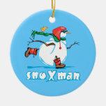 Action Snowman Christmas Tree Ornament