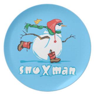 Action Snowman Dinner Plate