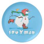 Action Snowman Dinner Plates