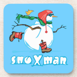 Action Snowman Drink Coaster