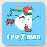 Action Snowman Drink Coasters