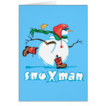 Action Snowman Greeting Card