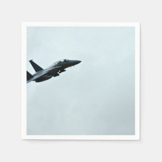 Action Themed, A Fighter Plane Turing In Clear Sky Napkin