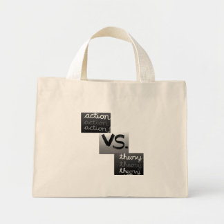 Action vs. Theory Tote Bags