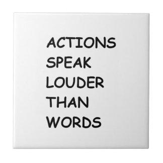 ACTIONS SPEAK LOUDER THAN WORDS TRUTH COMMENTS MOT CERAMIC TILES