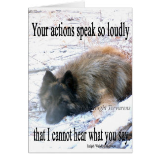 Actions Speak Loudly Card